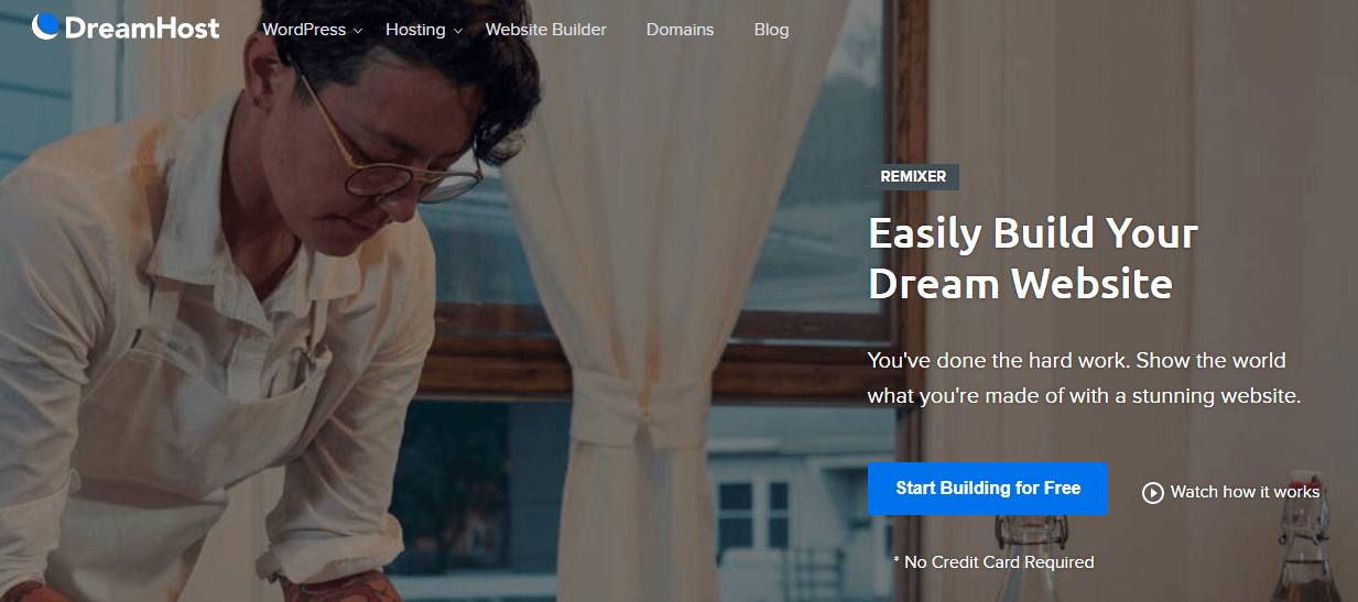 DreamHost's Website Builder, Remixer