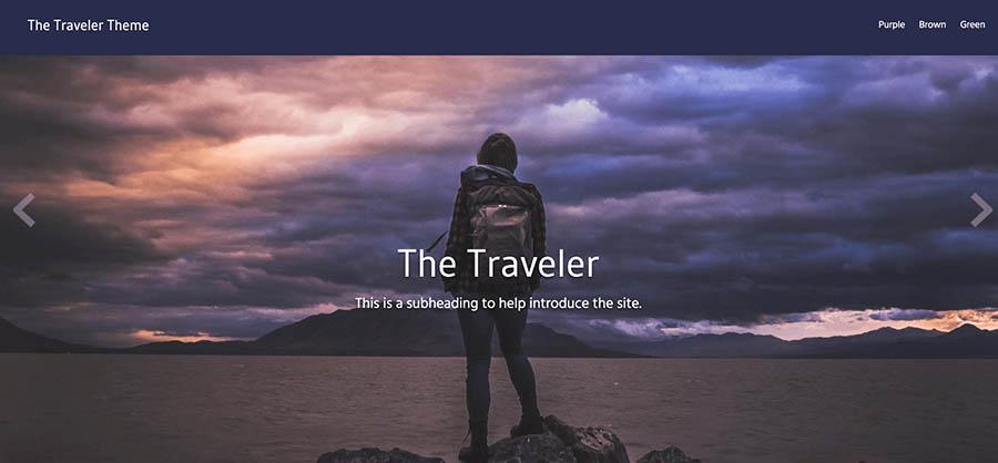 "Remixer's ""Traveler"" template."