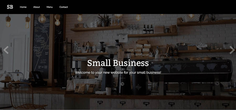 "Remixer's ""Small Business"" template."