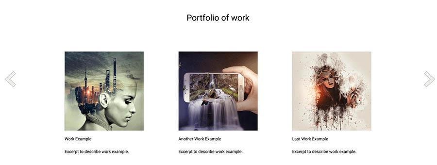 "Portfolio on a ""Creative"" template."