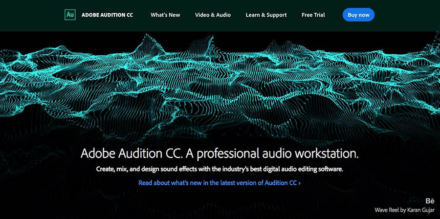 The Adobe Audition audio editing software.