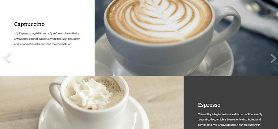 Example of website with Small Business theme.