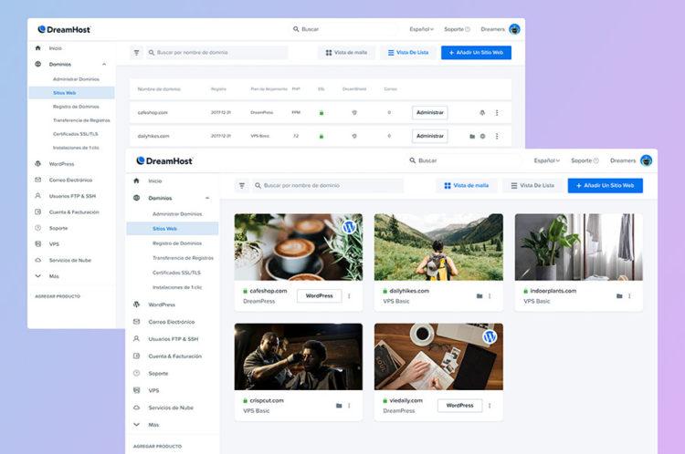 Renovamos el panel de control de DreamHost para hacer más fácil la administración de sitios thumbnail